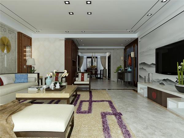 现代新中式家装效果图